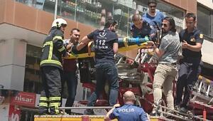8inci kattan atlayacağı sırada polis kurtardı