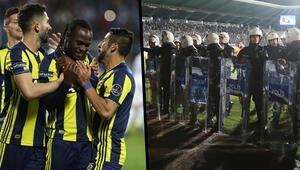 Fenerbahçeli futbolcular sahayı böyle terk etti...