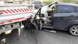 Pendikte feci kaza: 2 yaralı
