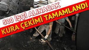 Türkiye Taş Kömürü Kurumu 500 işçi kura çekimleri yapıldı