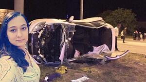 Üniversite öğrencileri kiralık otomobille kaza yaptı