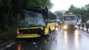 Sarıyerde zincirleme trafik kazası: 2 yaralı