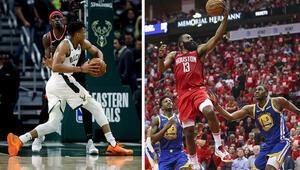 NBAde yılın en iyi 5leri açıklandı Harden ve Antetokounmpo damgası...