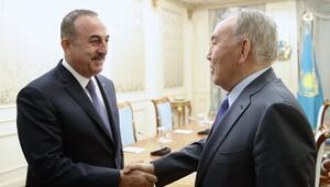 Bakan Çavuşoğlu, Nursultan Nazarbayev ile görüştü