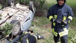 Yozgatta otomobil şarampole devrildi: 1 ölü, 4 yaralı