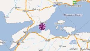 Marmara Denizinde 3, 9 büyüklüğünde deprem