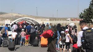 Bayrama giden Suriyelilerin sayısı 13 bine ulaştı