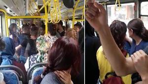 Taciz iddiası otobüsü karıştırdı 'Hiç anan bacın yok sanki senin'