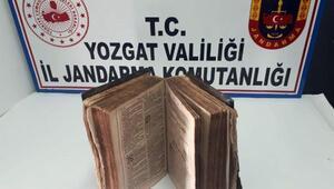 Yozgatta 600 yıllık kitap ele geçirildi