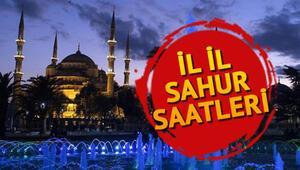 Sahur bu gece saat kaçta İstanbul Ankara ve İzmir dahil tüm illerin sahur vakitleri