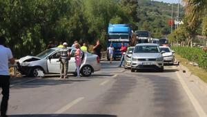 Bodrum'da bayram tatili kazalarla başladı: 4 araç birbirine girdi