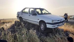 Görenler şaşkına döndü Kaza yapan araç...