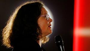 Almanyada SPD Genel Başkanı Nahles'ten istifa açıklaması