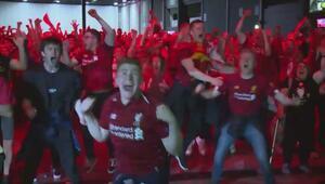 Liverpool taraftarlarından muhteşem sevinç