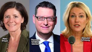 SPD'deyi geçici olarak üçü yönetecek
