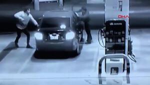 Hırsızı pompa ile kovaladı