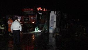 Yozgatta otobüs devrildi: Çok sayıda yaralı var