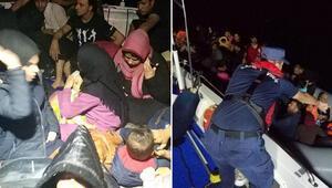 Didim ve Sökede lastik botlarda 131 kaçak yakalandı