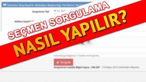 23 Haziran İstanbul seçimleri için YSK seçmen sorgulama ekranı