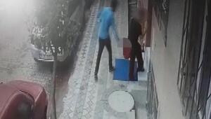 Sultangazide apartman önünde temizlik yapan kadına taciz