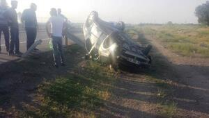 Otomobil takla attı, sürücüsü yaralandı