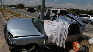 Aksarayda otomobil takla attı: 3 ölü