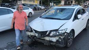 Ünlü oyuncunun çarptığı motosikletli ağır yaralandı