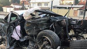 Bursada korkunç kaza: 1 ölü 1 yaralı
