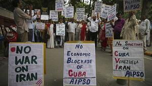 Hindistanda Pompeoya karşı gösteri düzenlendi