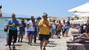 Çeşmedeki halk plajı işgaline son