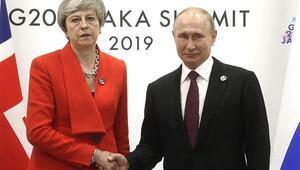 Theresa May ve Putinin G20deki görüşmesi sona erdi