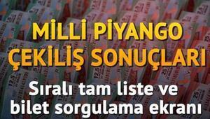 Milli Piyango sonuçları sıralı tam liste ile paylaşıldı - MPİ bilet sorgulama sayfası