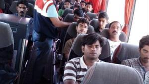 Çankırıda 17 göçmen yakalandı