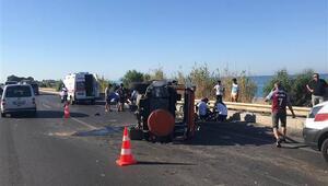 Minibüsle cip çarpıştı: 8 turist yaralandı