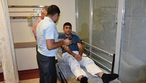 Mardinde saldırıya uğrayan doktor çifte destek eylemi