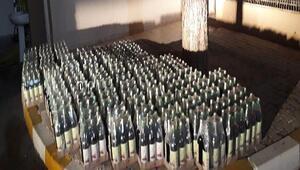 Çanakkalede 726 şişe mükerrer bandrollü şarap ele geçirildi