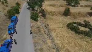 Elazığda kaçak kazı yapan 4 kişiye drone ile suçüstü