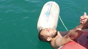 Denizde mahsur kalan balıkçılar kurtarıldı
