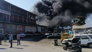 Adanada, metal sanayi sitesindekifabrikada yangın
