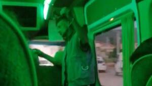Otobüste iğrenç olay Taciz edip bıçak gösterdi…