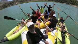 2 bin 800 rakımlı Nemrut Krater Gölüne kamp kurdular