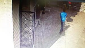 Camiden musluk hırsızlığı kamerada