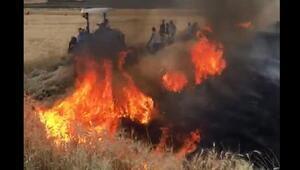 Siverekte anız yangını