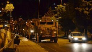 Suriye sınırına gece yarısı askeri sevkiyat