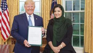 Suudi kadın elçi aynı gün Trump'la görüştü