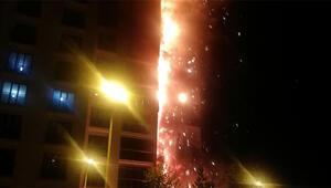 16 katlı, 160 daireli bina alev alev yandı