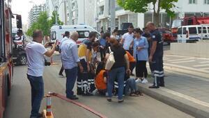 Diyarbakırda 2 katlı markette yangın, 50 kişi tahliye edildi