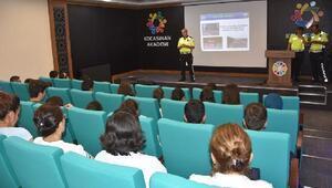Kocasinanda kursiyerlere trafik eğitimi verildi