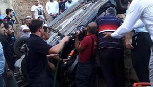 Silvanda dere yatağına yuvarlanan otomobilin sürücüsü öldü