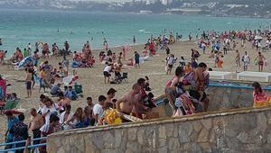 Çeşme plajında panik anları